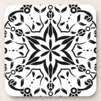 Art de mandala de concepteurs : blanc noir sous-bock