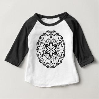 Art de mandala de concepteurs : blanc noir t-shirt pour bébé