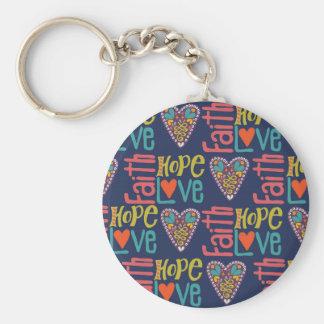 Art de mot d'espoir et d'amour de foi porte-clés