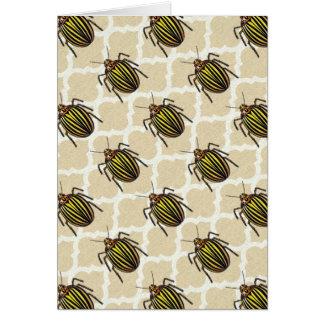 Art de motif de scarabée de pomme de terre cartes de vœux