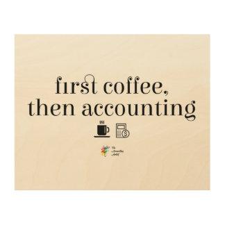 Art de mur de comptable - premier café rendant