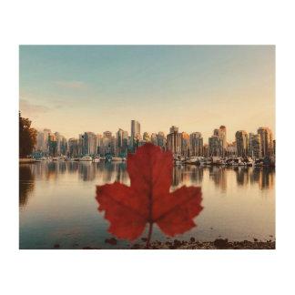 Art de mur d'érable rouge de Vancouver Canada