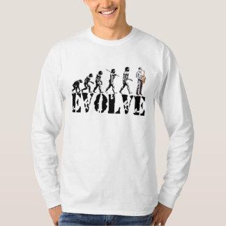 Art de musical d'évolution de saxo de saxophone t-shirt
