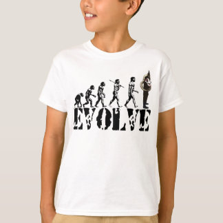 Art de musical d'évolution de tubas de tuba de t-shirt