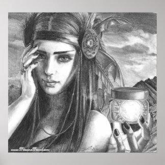 Art de Natif américain d'affiche de déesse Poster