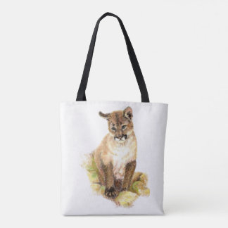 Art de nature animale de CUB de puma de puma Tote Bag