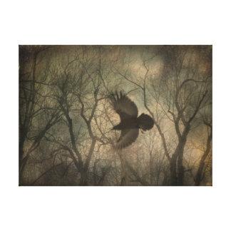 Art de nature de Raven de région boisée Toiles