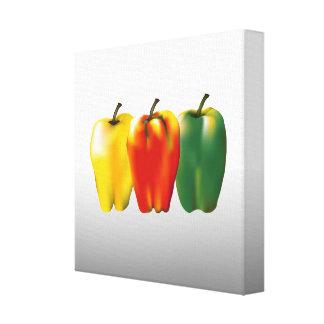 Art de nourriture de cuisine de paprikas toiles