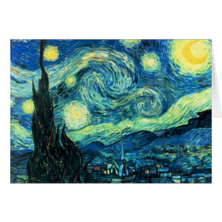 Art de nuit étoilée cartes de vœux