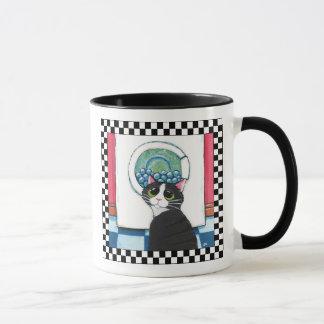 Art de observation de chat de la machine à laver | mug