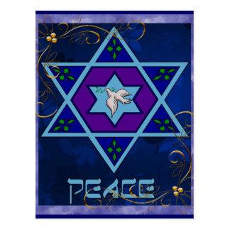 Art de paix de Hanoukka Carte Postale