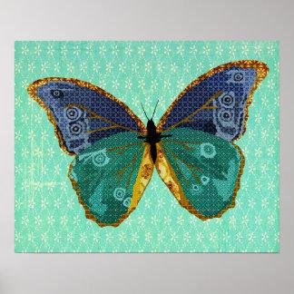Art de papillon de Boho Poster