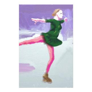 Art de patinage de glace papier à lettre