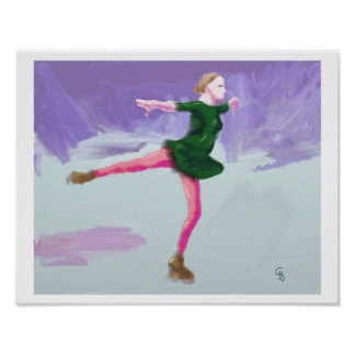 Art de patinage de glace posters