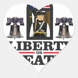 art de patriote de cloche sticker cœur
