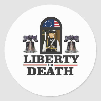 art de patriote de cloche sticker rond
