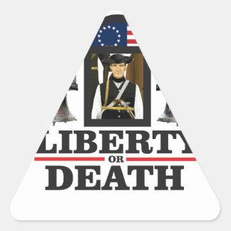 art de patriote de cloche sticker triangulaire