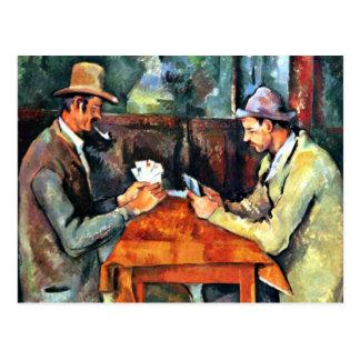 Art de Paul Cezanne : Les joueurs de carte (deux) Cartes Postales