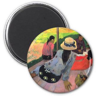 art de Paul Gauguin Magnet Rond 8 Cm