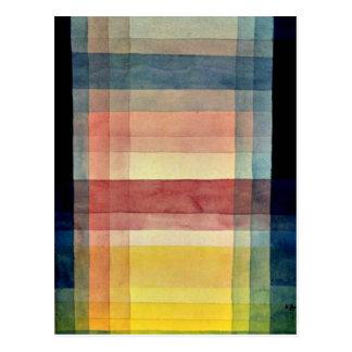 Art de Paul Klee : Architecture de la plaine Carte Postale