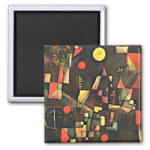 Art de Paul Klee : Pleine lune Magnets