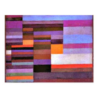 Art de Paul Klee - soirée du feu Cartes Postales