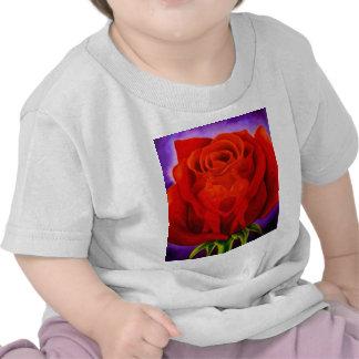 Art de peinture de fleur de rose rouge - multi t-shirt