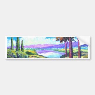 Art de peinture de rivière de paysage - multi autocollants pour voiture