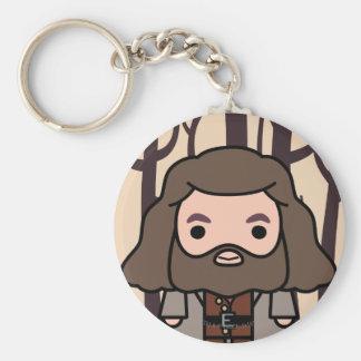 Art de personnage de dessin animé de Hagrid Porte-clé Rond