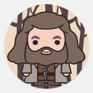 Art de personnage de dessin animé de Hagrid Sticker Rond