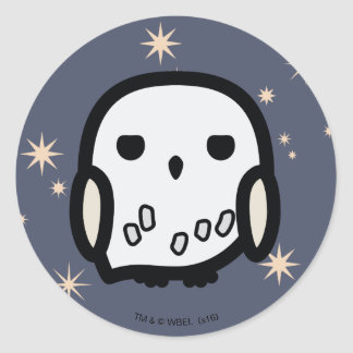 Art de personnage de dessin animé de Hedwig Sticker Rond