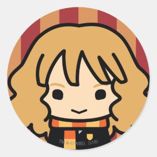 Art de personnage de dessin animé de Hermione Sticker Rond