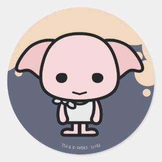 Art de personnage de dessin animé de ratière sticker rond