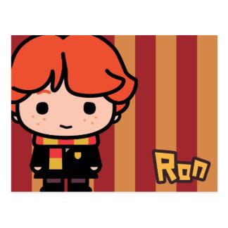 Art de personnage de dessin animé de Ron Weasley Cartes Postales