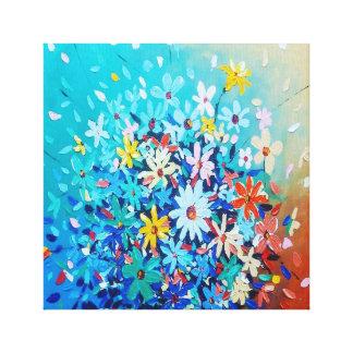 art de pétales de fleur toile