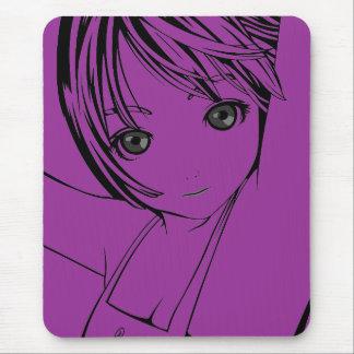 Art de pin-up de jeune écolière de Manga des Tapis De Souris