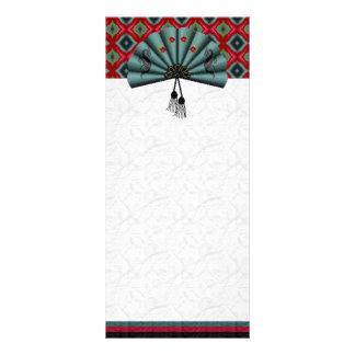 Art de pixel de fan de dragon vert de vert-de-gris motif pour double carte