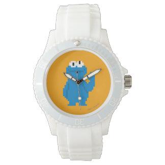 Art de pixel de monstre de biscuit montre