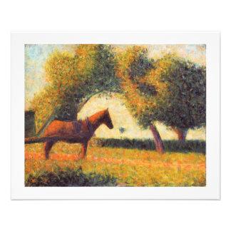 Art de pointillist de peinture de cheval par Georg Tract Personnalisé