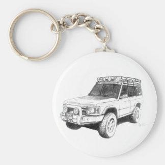 Art de porte - clé de Land Rover Porte-clé Rond