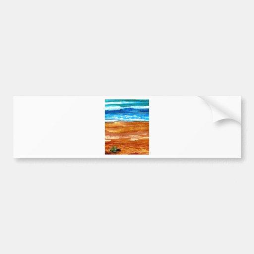 Art de recherche allé de surf de plage de coquilla autocollant pour voiture