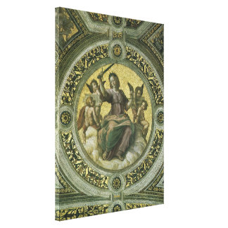 Art de Renaissance vintage, justice par Raphael Toiles