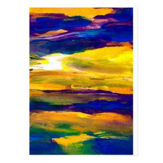 Art de ressacs de paysage marin de Starbright Sun Cartes Postales