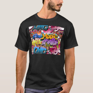 Art de rue de graffiti t-shirt