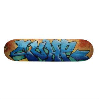 art de rue plateaux de skateboards