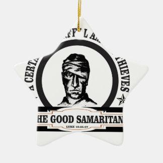 art de Samaritain de guerre biologique Ornement Étoile En Céramique