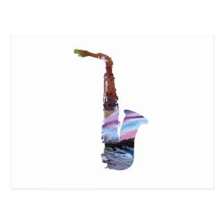 Art de saxophone carte postale