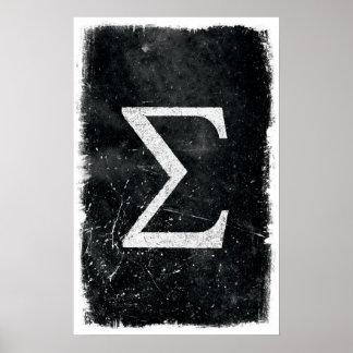 Art de sigma - affiches de maths poster