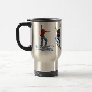 Art de sports d'action de rue du planchiste 1 et 2 mug de voyage en acier inoxydable