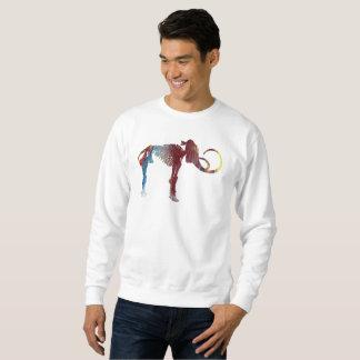 Art de squelette de mammouth laineux sweatshirt